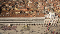 View on square San Marco from campanile, Venice, Italy Royalty Free Stock Photo