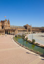 View of square of Spain, Sevilla, Spain Royalty Free Stock Image