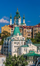 View of st andrew s church kyiv ukraine in Stock Photos