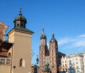 View st mary s church famous landmark krakow poland Stock Image