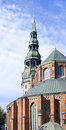 View on St.Peter Cathedral,Riga,Latvia Stock Image