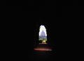View of St. Peter`s dome through the keyhole. Royalty Free Stock Photo