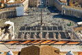 View of St Peter's Square from dome of St. Peter B Stock Image
