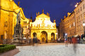 View of st salvator s cathedral at night june prague czech republic in prague was visited by million tourists Royalty Free Stock Photos