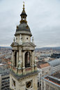 View from St Stephen's Basilica Bell Tower in Budapest Royalty Free Stock Image