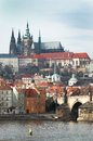 View on St. Vitus cathedral Royalty Free Stock Photography