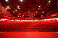 View from stage on rows of chairs in cinema Stock Photography