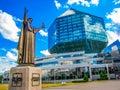Francysk Skaryna statue, National Library of Belarus, Minsk