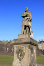 View statue king robert bruce outside stirling castle scotland Stock Images