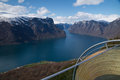 View from Stegastein, Aurland, Norway Royalty Free Stock Photo