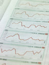 View of stock market graphs Stock Image