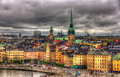 View of Stockholm city center, Sweden Royalty Free Stock Photo