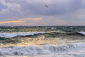View of storm seascape Royalty Free Stock Image