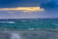 View of storm seascape Royalty Free Stock Images