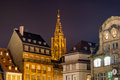 View of Strasbourg Cathedral from The Place Kleber Royalty Free Stock Image