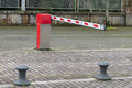 View of the street barrier Royalty Free Stock Photo