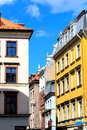 View of the street in the old town riga latvia buildings Stock Photography