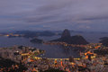 View of sugarloaf blue hour rio de janeiro brazil spectacular famous in Stock Photos