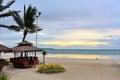 View of sun rising above the horizon at Bantayan Island Royalty Free Stock Photo