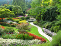 View of Sunken Gardens Royalty Free Stock Photo