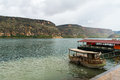 View of sunken village savasan in halfeti sanliurfa turkey Royalty Free Stock Photo