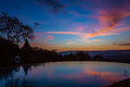 View of sunrise on lake manyara tanzania africa Stock Image