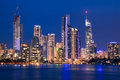 View on surfers paradise at night Royalty Free Stock Photo