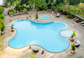 The view of swimming pool in hotel Royalty Free Stock Photo