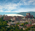 View of syracuse new york the carrier dome and university hill in Stock Photo
