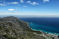 View from table mountain on the coast south of cape town south africa Royalty Free Stock Photo