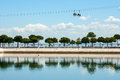 View on tagus river in lisbon portugal from park of nations Royalty Free Stock Images