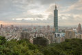 View of taipei and over taipei city skyscraper in taiwan Stock Photos