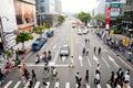 The view of taipei street view Royalty Free Stock Photo