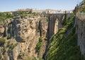 View of Tajo Bridge Ronda Spain Royalty Free Stock Photo