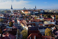 View of the Tallinn Old Town Stock Photos