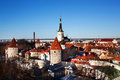 View of tallinn old town panoramic spring landscape estonia Royalty Free Stock Photos