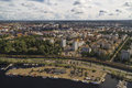 View of the Tampere from the observation deck Royalty Free Stock Photo