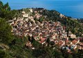 View of Taormina town  from Monte Tauro  in Sicily Royalty Free Stock Photo