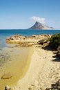 View of Tavolara island from Sardinia. Royalty Free Stock Photo