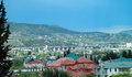 View of tbilisi beautiful scenery against mountains Stock Images
