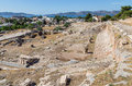 View of telesterion ancient eleusis attica greece was one the great shrines antiquity its practices were based on two goddesses Royalty Free Stock Photos