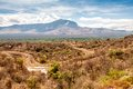 View of the territory of the tribe mursi in ethiopia Royalty Free Stock Photos
