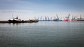 View of Thessaloniki  Port, Greece Royalty Free Stock Photo
