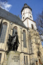 View of the Thomaskirche in Leipzig Royalty Free Stock Photo