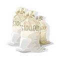A view of three money bags with US dollar sign Royalty Free Stock Photo