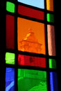 View Thru the Stained Glass Window Royalty Free Stock Image
