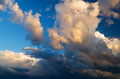 View of thunderstorm clouds nature composition Royalty Free Stock Photo