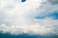 View of thunderstorm clouds nature composition Stock Images