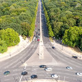 View on tiergarten berlin on a summer day Royalty Free Stock Images