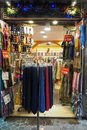 Ties, foulards and scarves shop in Rome, Italy Royalty Free Stock Photo
